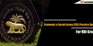 Economic & Social Issues (ESI) Practice Questions for RBI Grade B 2018