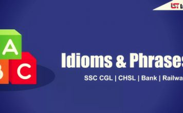 Useful Idioms & Phrases Quiz for SSC CGL 2018 | Set-1