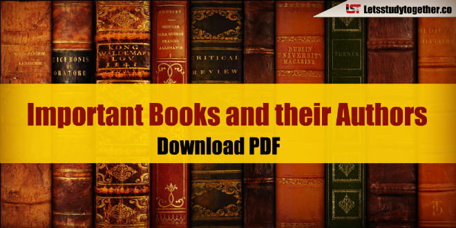 Latest Important Books And Their Authors 2018 Updated Download Pdf