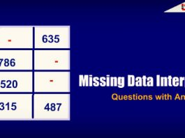 Missing Data Interpretation (DI) Questions with Answers