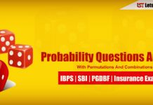 Permutation, Combination and Probability Questions for Bank Exams