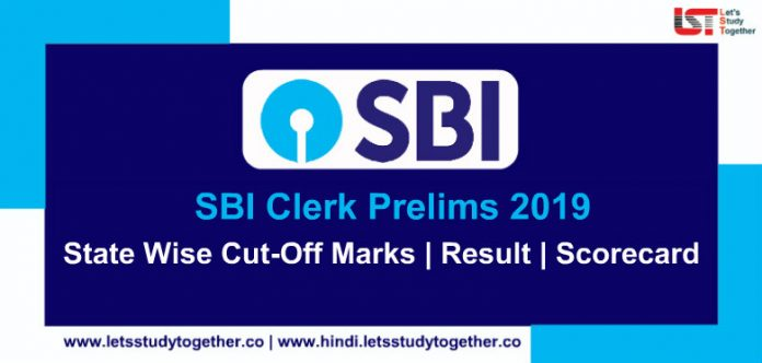 SBI Clerk Prelims State Wise Cut-Off Marks 2018/16 | Check Here