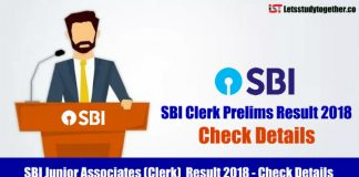 SBI Junior Associates (Clerk) Result 2018 - Check Details