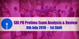 SBI PO Exam Analysis & review - 8th July 2018