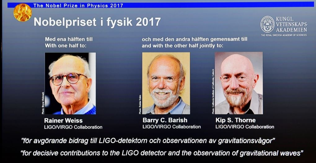 The Nobel Prize in Physics 2017 - Rainer Weiss ,Barry Barish and Kip S Throne
