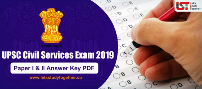 UPSC IAS 2019 Prelims Answer Key ( All Set) – Check Here
