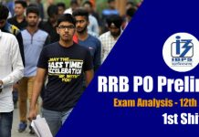 RRB PO Prelims Exam Analysis & Review ( 1st Shift) - 12th August 2018