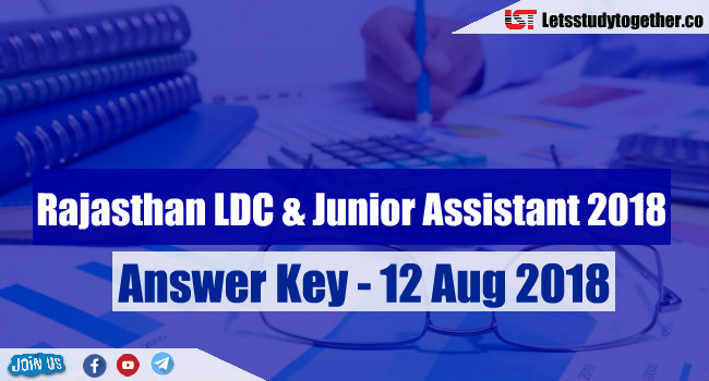 Rajasthan LDC & Junior Assistant 2018 Answer Key