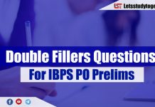Double Fillers Questions for IBPS PO