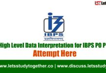 500+ High Level Data Interpretation for IBPS PO Prelims 2018