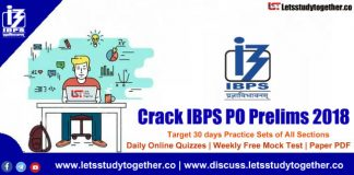 Crack IBPS PO Prelims 2018 | Target 30 days Practice Sets of All Sections & Free PDF's