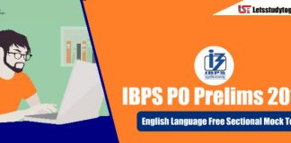 English Language Free Sectional Mock Test for IBPS PO Prelims 2018 – Attempt Here