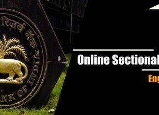 Online Sectional Mock Test – English language for RBI Grade B 2018