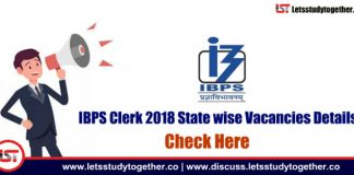 IBPS Clerk 2018 State wise Vacancies Details - Check Here