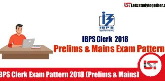IBPS Clerk Exam Pattern 2018 (Prelims & Mains) – Check Here
