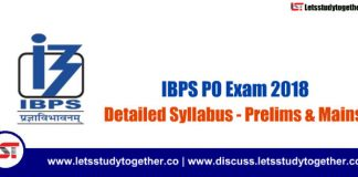 IBPS PO Exam Syllabus 2018 (Prelims & Mains) – Check Here