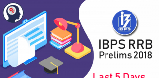 IBPS RRB Prelims 2018– Last 5 Days Revision Strategy