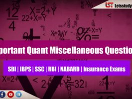 Moderate Quant Miscellaneous Questions for IBPS PO 2018 | Set – 26