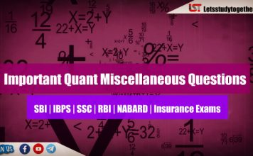 Moderate Quant Miscellaneous Questions for IBPS PO 2018   Set – 26