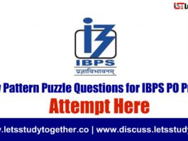 500+New Pattern Puzzle Questions for IBPS PO Prelims 2018