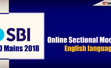 Online Sectional Mock Test – English language for SBI PO Mains