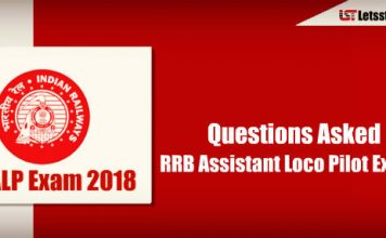 Questions Asked in RRB Assistant Loco Pilot Exam 2018