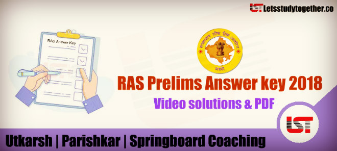 RAS Prelims Answer key PDF Utkarsh | Parishkar | Springboard Coaching
