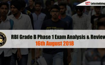 RBI Grade B Phase 1 Exam Analysis & Review - 16th August 2018