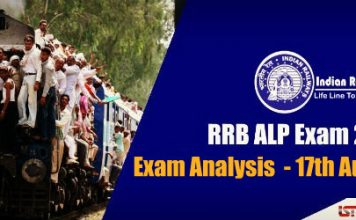 RRB ALP Exam Analysis & Questions Asked in All Shifts – 17th August 2018