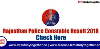 Rajasthan Police Constable Result 2018 Out – Download Result PDF