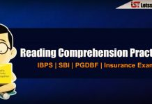 Reading Comprehension for IBPS PO Prelims 2018 | Set – 70