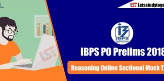 Reasoning Online Sectional Mock Test for IBPS PO Prelims 2018 – Attempt Here