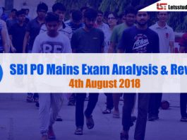 SBI PO Mains Exam Analysis & Review – 4th August 2018