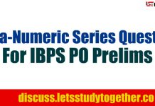 Alpha-Numeric Series Questions For IBPS PO Prelims