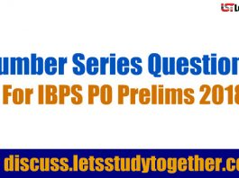 Number Series Questions For IBPS PO Prelims 2018