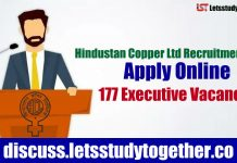 Hindustan Copper Ltd Recruitment 2018 | Apply Online 177 Vacancies |