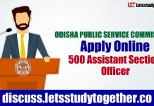 OPSC Recruitment 2018 | Apply Online 500 Assistant Section Officer |