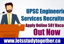 UPSC Engineering Services Recruitment 2019