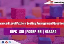 New Pattern Puzzle & Seating Arrangement for IBPS PO Prelims