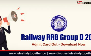RRB Group D 2018 Admit Card Out : Download Now