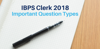 IBPS Clerk 2018 : Important Question Types for Prelims