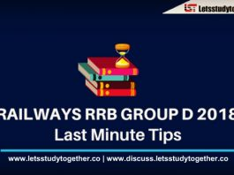Important Last Minute Tips for RRB Group D Exam 2018
