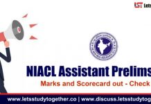 NIACL Assistant Prelims 2018 Marks and Scorecard out - Check here