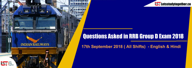 Questions Asked In RRB Group D Exam English Hindi PDF Th - 2018
