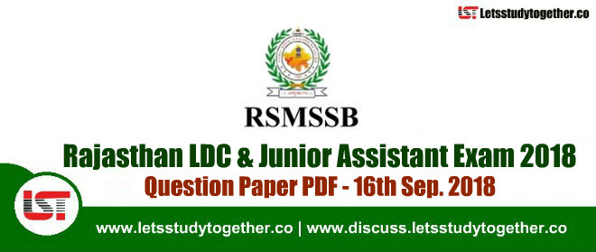 rajasthan ldc junior assistant exam question paper pdf 1st 2nd