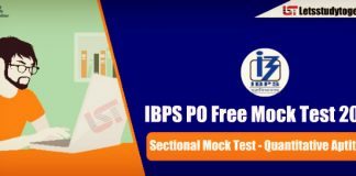 Quantitative Aptitude Free Sectional Mock Test for IBPS PO Prelims 2018 – Attempt Here