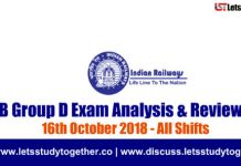 RRB Group D Exam Analysis & Reviews All Shifts – 16th October 2018
