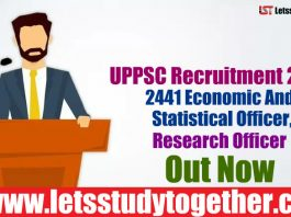 UPPSC Recruitment 2018 - 2441 Economic And Statistical Officer, Research Officer