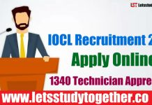 IOCL Recruitment 2018 - Apply Online 1340 Technician Apprentice,Trade Apprentice