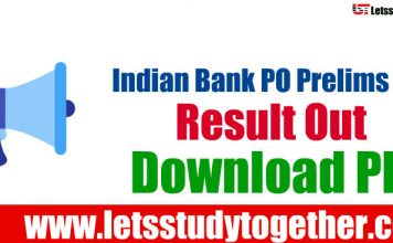 Indian Bank PO Result 2018 Out - Download Now